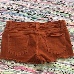Carmar Shorts - Size 26 Orange Rust Carmar Denim Shorts